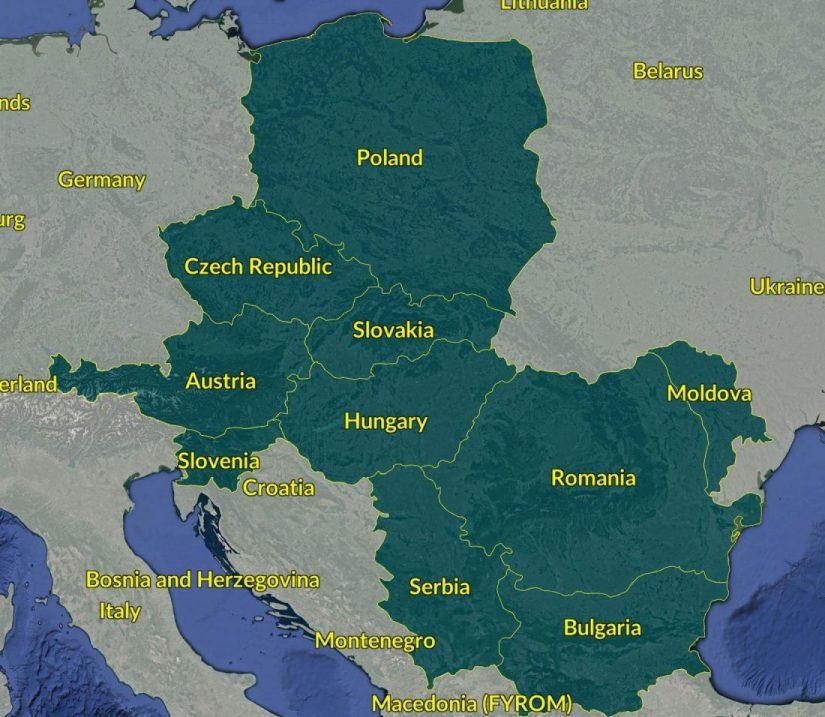 mapa AJ